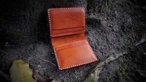 small wallet in tangerine