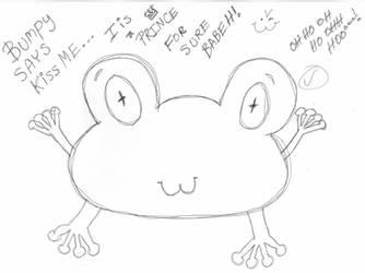 Bumpy The Frog Says KISS ME Meme by BakaTheIdiot