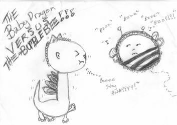 Baby Dragon VERSUS THE Bumble Bee Meme by BakaTheIdiot
