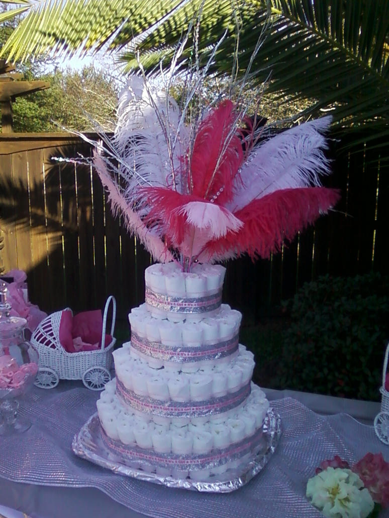 it 39 s a girl baby shower diaper cake by merodiasusairenhime on