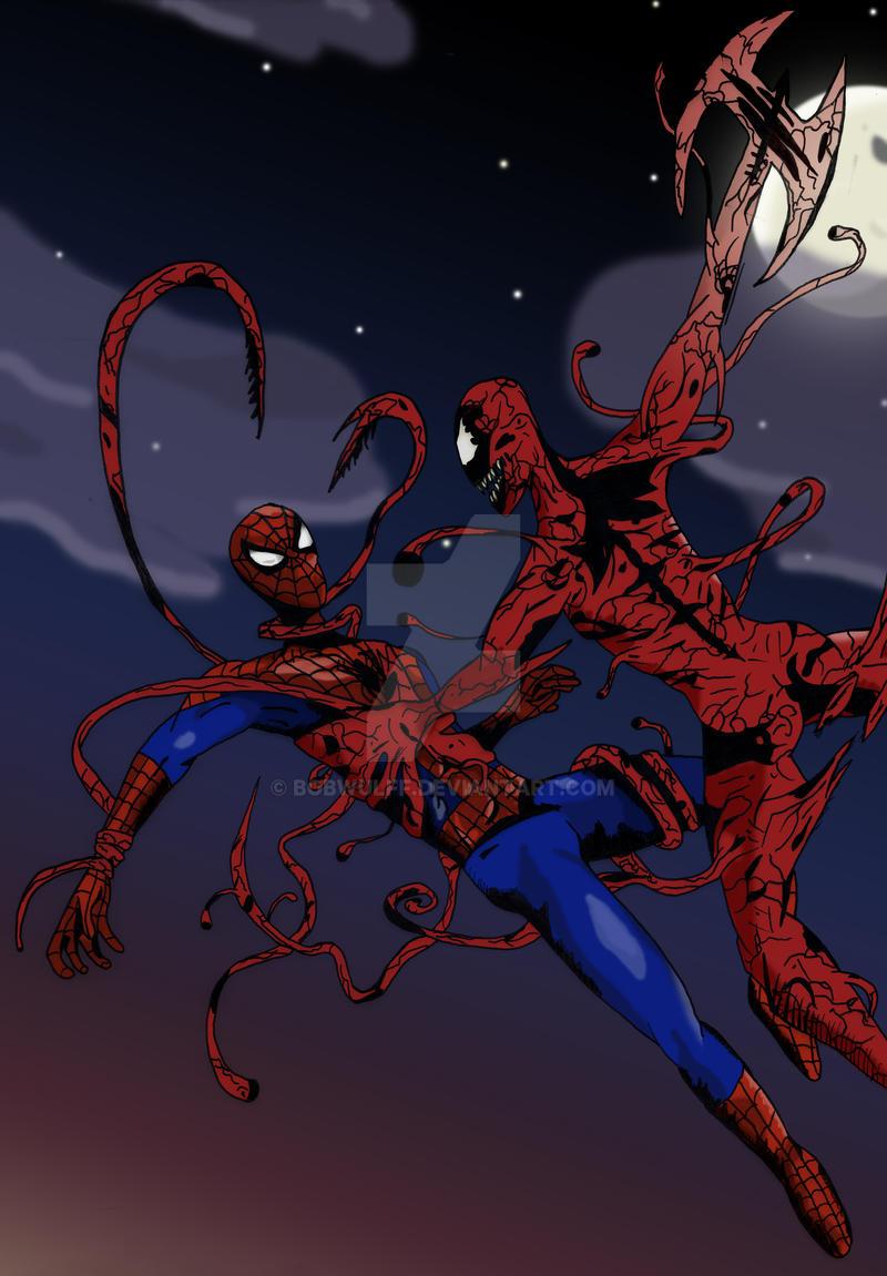 Spiderman vs carnage drawings - photo#13