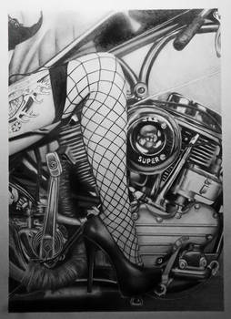 Retro sexy moto style.