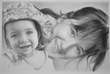 Portrait on canvas | Graphite