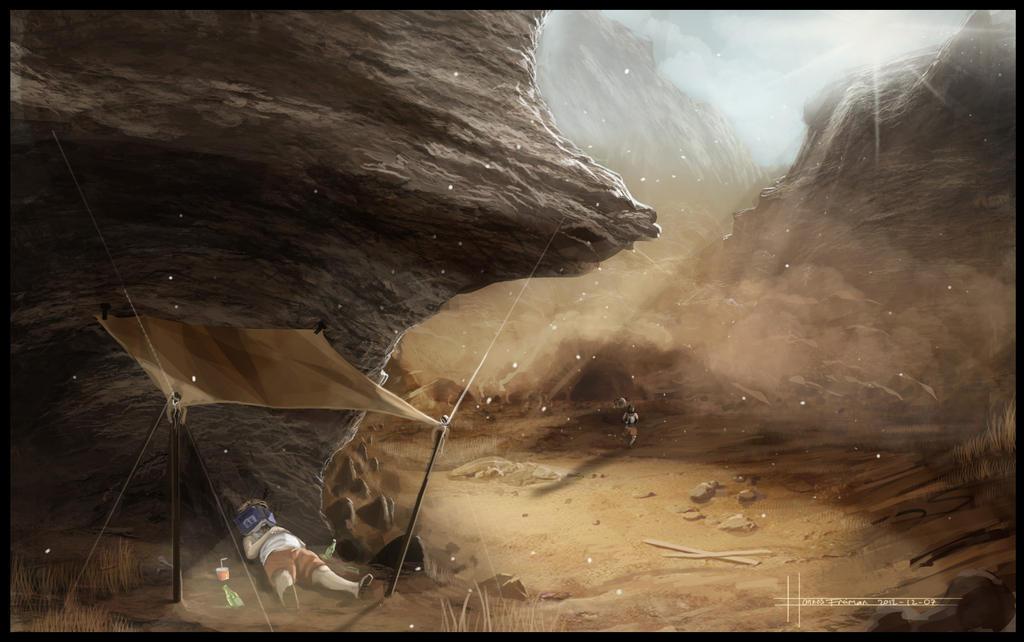 The quiet sandstorm by Puffisen