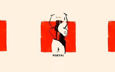 Portal Orange Box Poster by yoGhurrt1