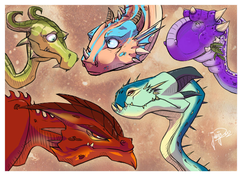5 Dragons by jukajo