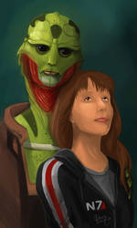 Thane Crios and me by SP-hera
