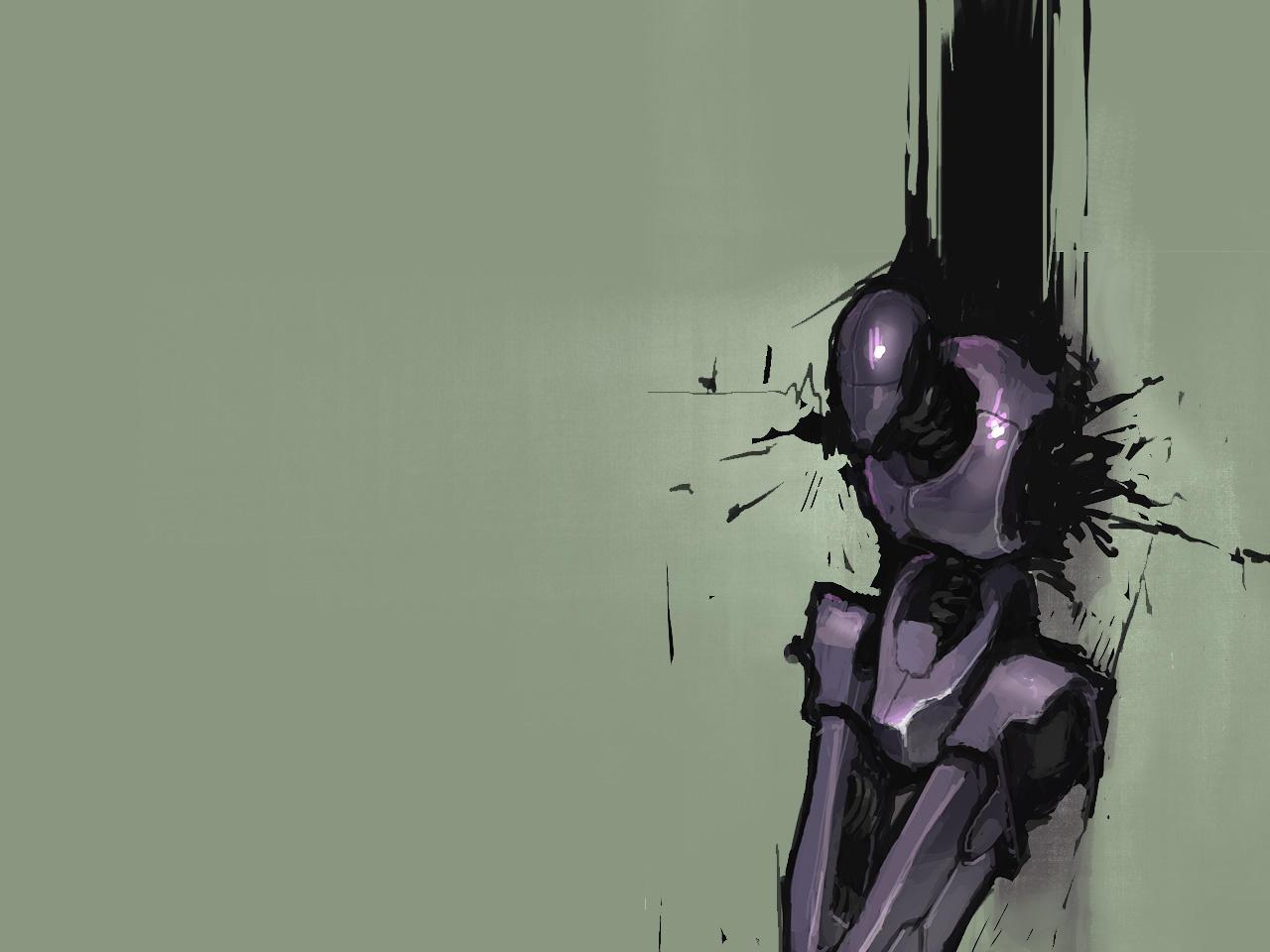tortured robot wallpaper by spx