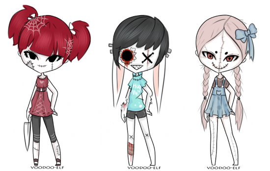 creepy doll adopts -taken- by Voodoo-Elf