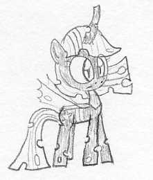 S.D Profile 2015: Twilight's Changeling form by Slizergiy