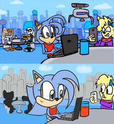 Noodles Cameo in Sonic Forces in minuties Ep 1 by Slizergiy