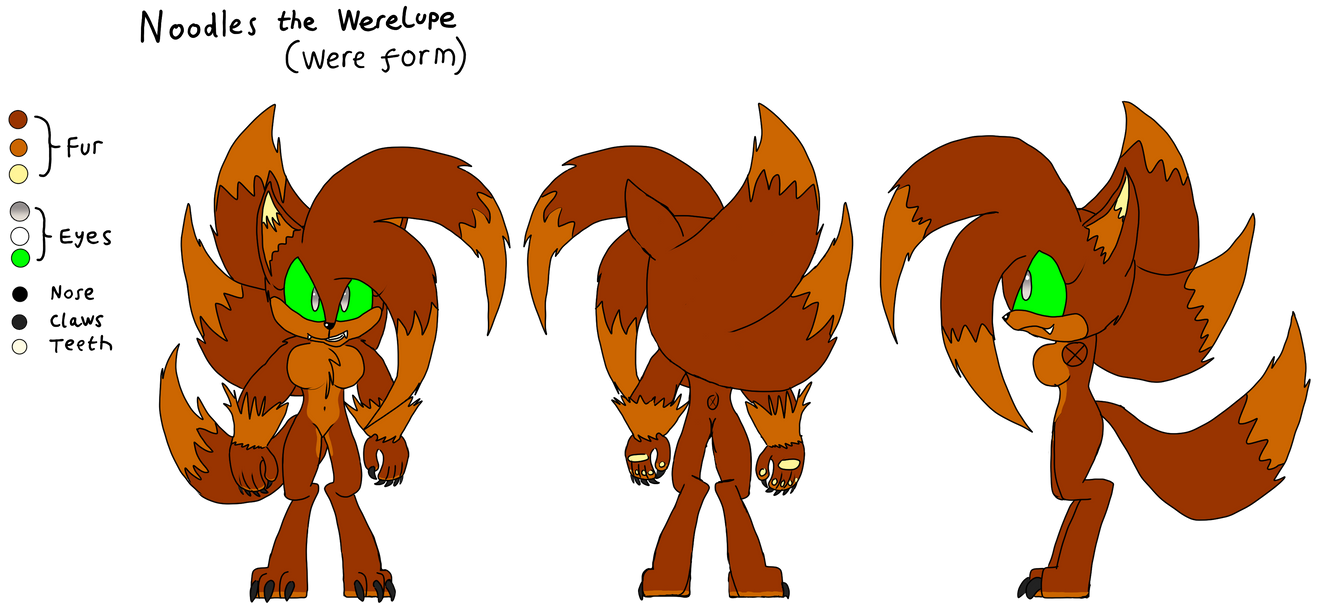 Noodles the Werelupe: Were Form character sheet
