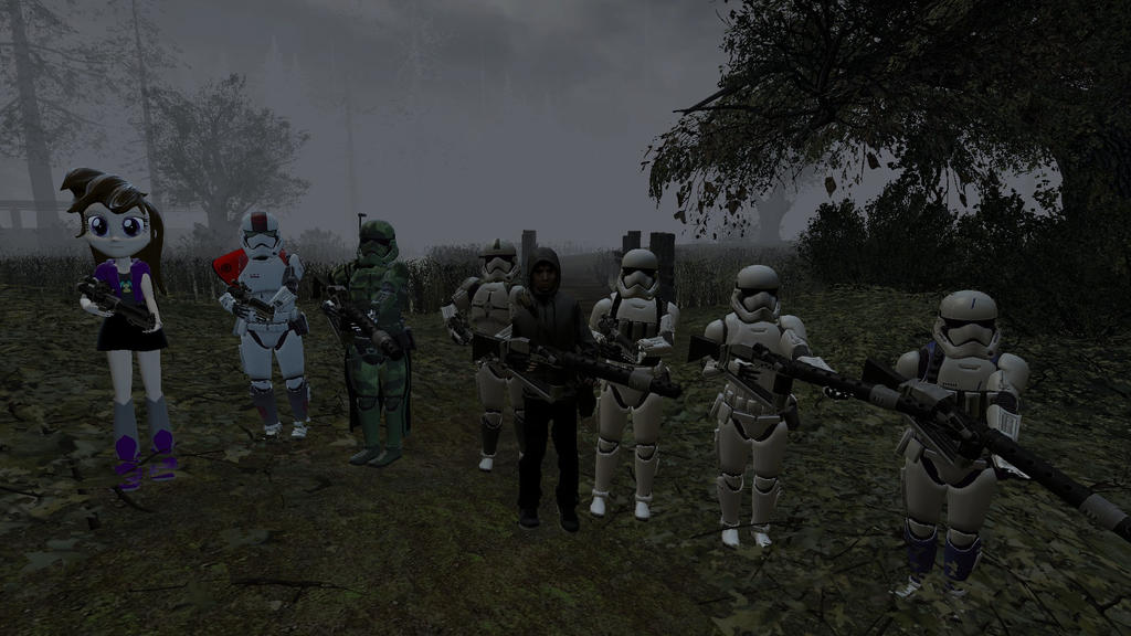 Me and my men along with a new Recrut by beaniesteve21