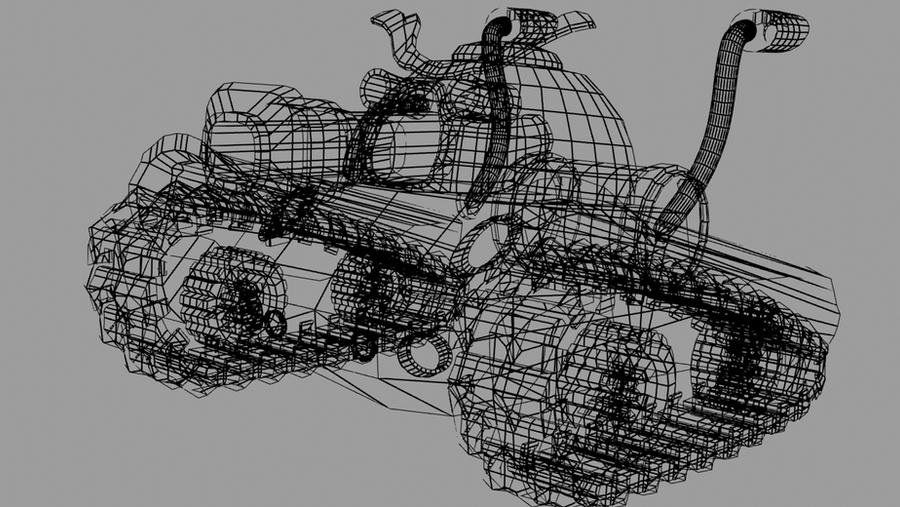 Ravager Tank Wireframe