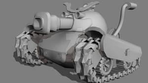 Ravager tank Greyscale