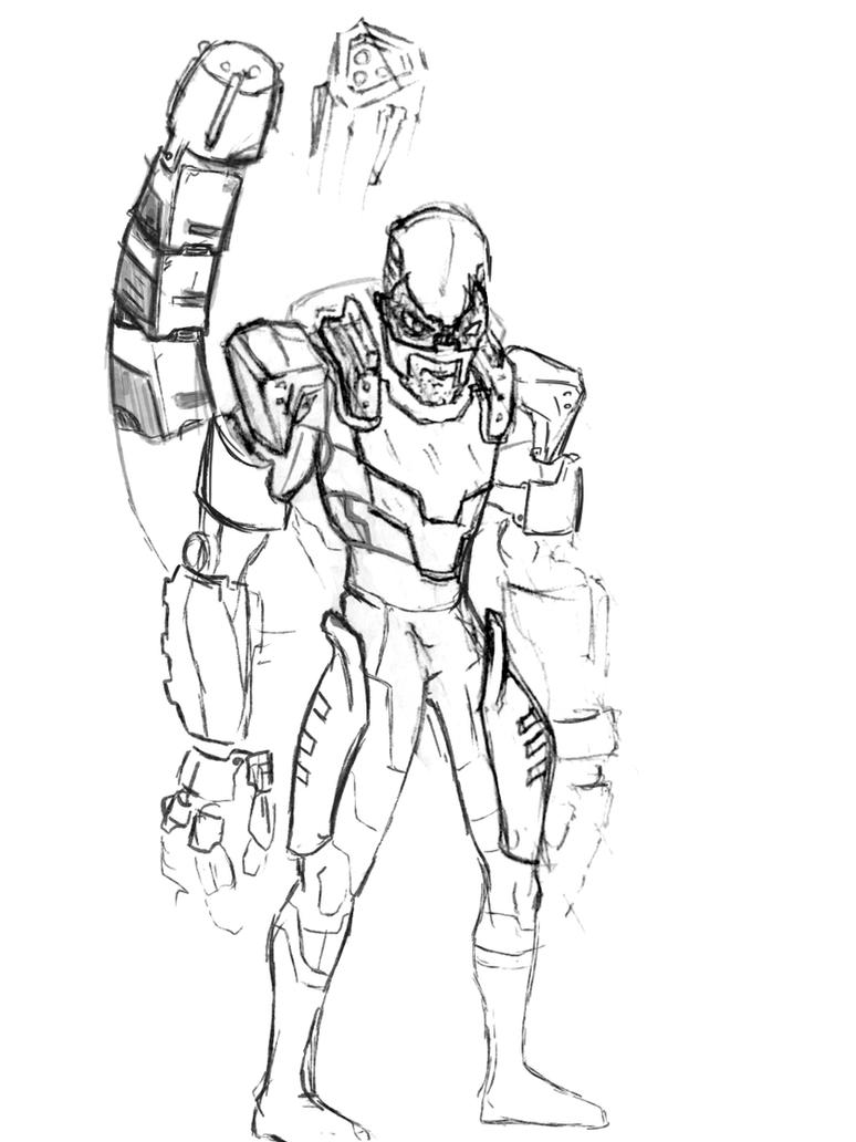Scorpion Concept Sketch by MisterNefarious