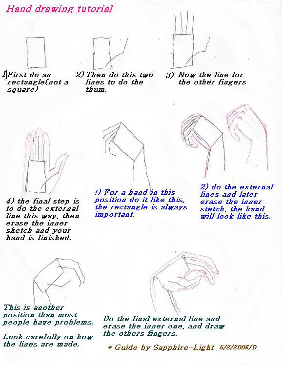 hand drawing tutorial by sapphire light on deviantart