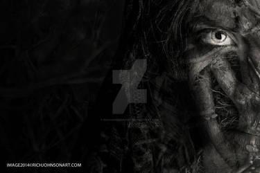 Tree Demon Devil Female Horror Scary Zombie by RichJohnsonArt