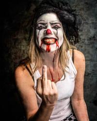 Creepy Clown Horror Zombie Scary by RichJohnsonArt