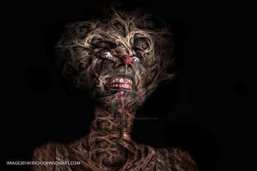 Horror Grinch Zombie Gothic by RichJohnsonArt