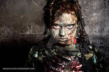 Zombie Boy Swamp Creature by RichJohnsonArt