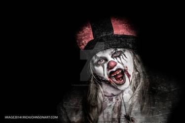 Zombie Girl Scream Horror Gothic by RichJohnsonArt