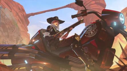 Ashe on Bike by W0LVEMAN