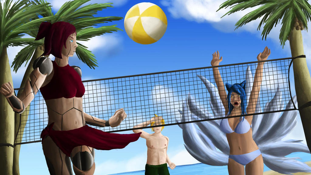 Beach Volley lol Fanart by lixlat