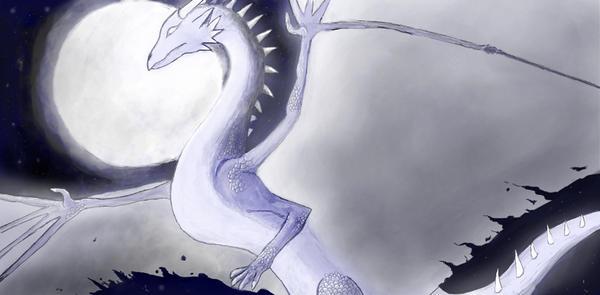 Moon dragon by MoonRayDreiko