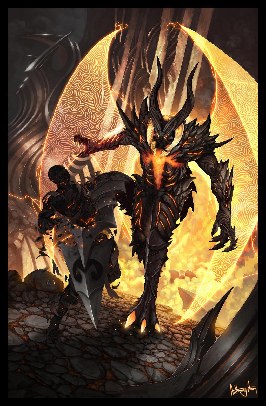 DMC4 concept Devil Trigger by V-a-a-N