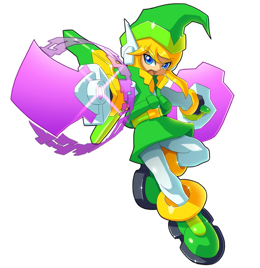 Mega Man w/ Link by V-a-a-N