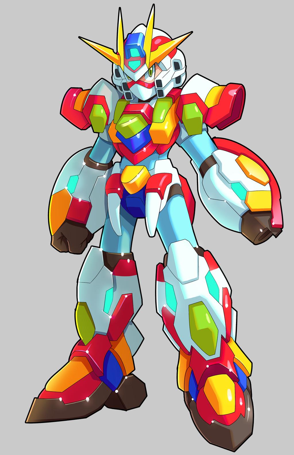 Mega Man X - (Fusion) - Burning Mirai Gundam by V-a-a-N