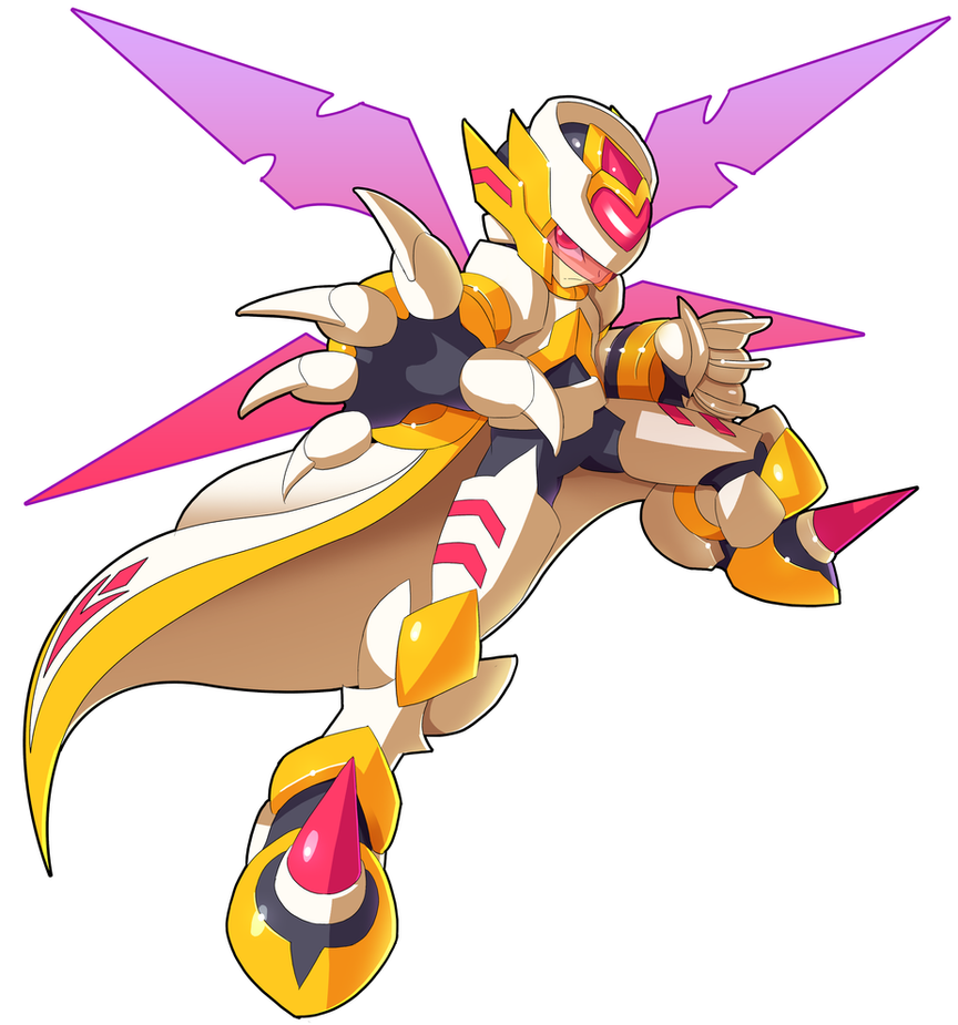 Mega Man: Type-Scythe V.2 [no background] by V-a-a-N
