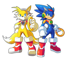 Tails.EXE and Sonic.EXE By Ultimatemaverickx