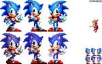Sonic Mania - Trilogy poses collab