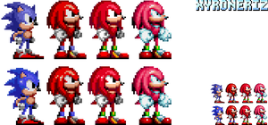 Knuckles - Sonic 1 and 2 style