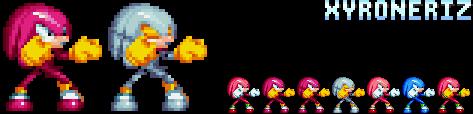 Sonic Mania - Mecha Knuckles by Xyroneriz