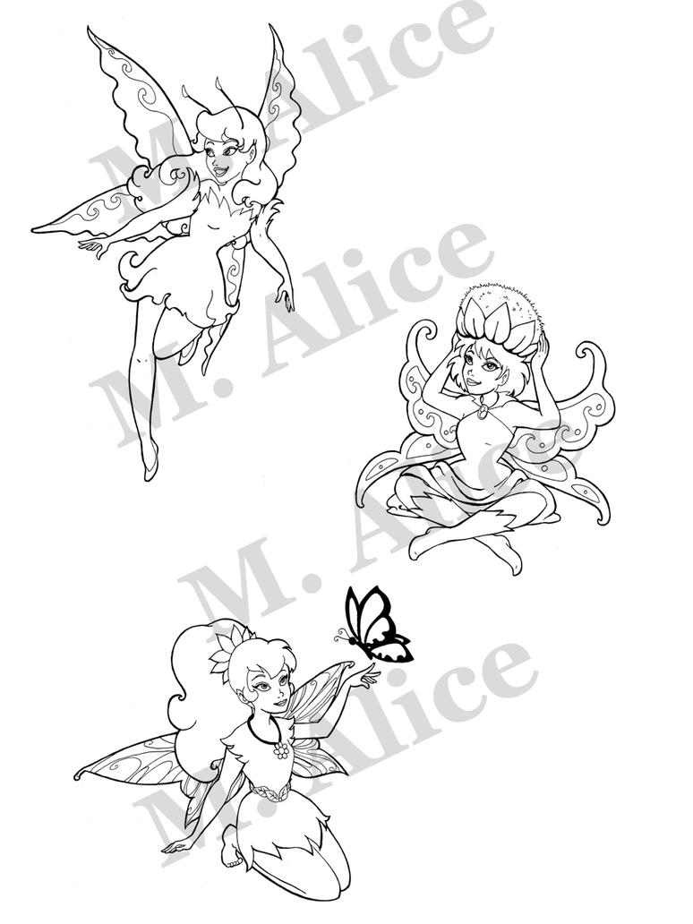 sad fairy coloring pages - photo#7
