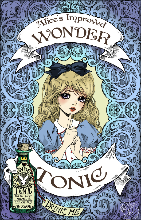 Alice's Improved Wonder Tonic- Print Sale by sadwonderland