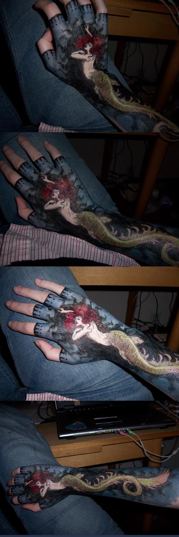 Hand Art 6 - Mermaid by sadwonderland