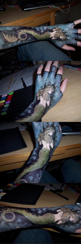 Hand Art 7-Mermaid 2 by sadwonderland