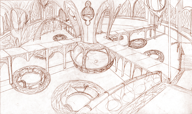 BZG Book 4 Environment Sketch by sadwonderland