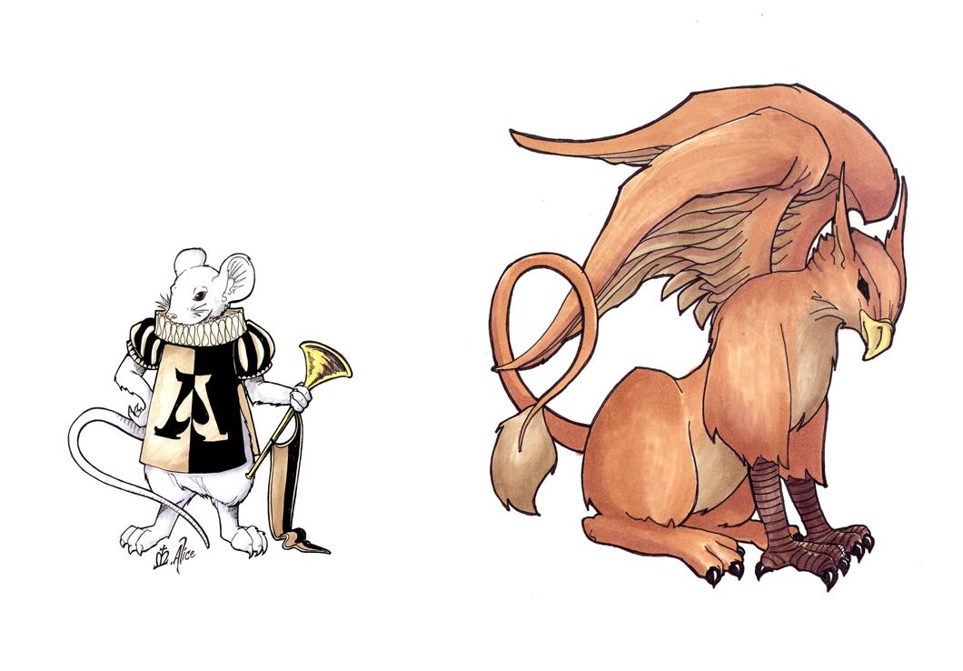 RA: Mouse and Gryphon by sadwonderland