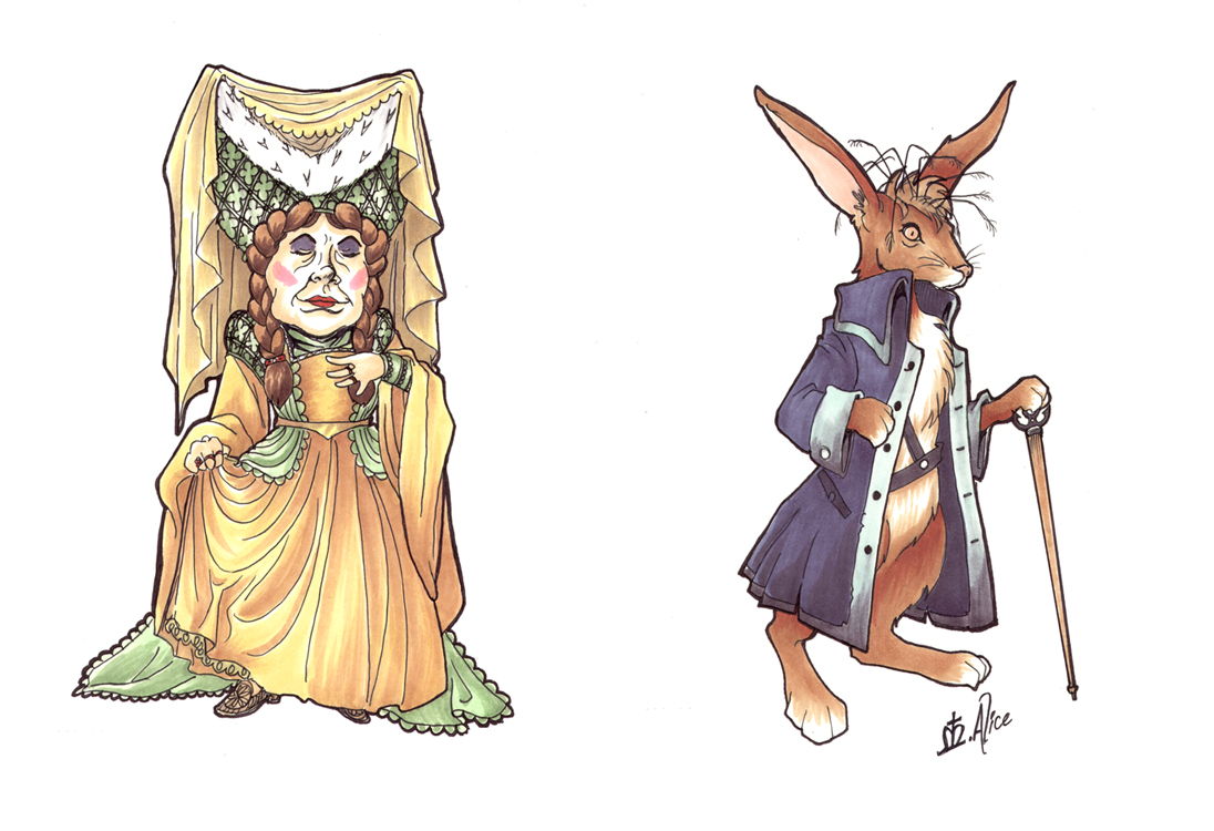 RA: Duchess and March Hare by sadwonderland