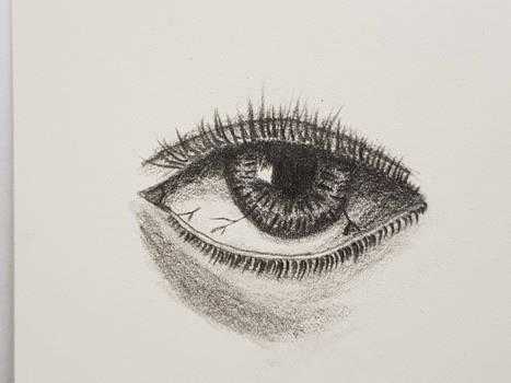 Eye on watercolor paper