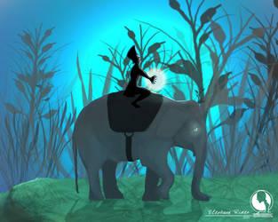 elephant rider by guleryuzmehmet