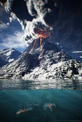 Volcano by teknof