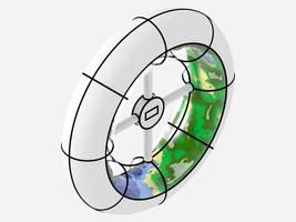 Sliced Spacestation by teknof