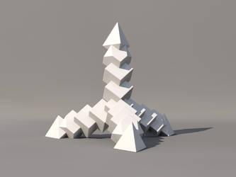 tetrahedron of bricks by teknof
