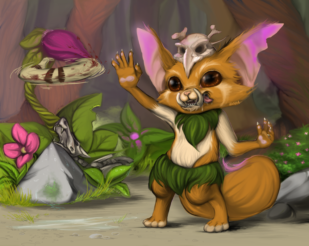 League of Legends Gnar by Hiniaa on DeviantArt